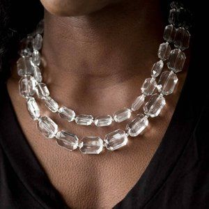 Ice Bank White Necklace
